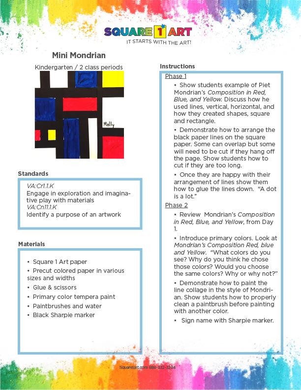 Square 1 Art - Lesson Plan - Mondrian-1