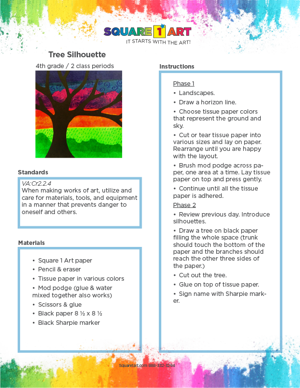 Square 1 Art - Lesson Plan - Tree Silhouette-1