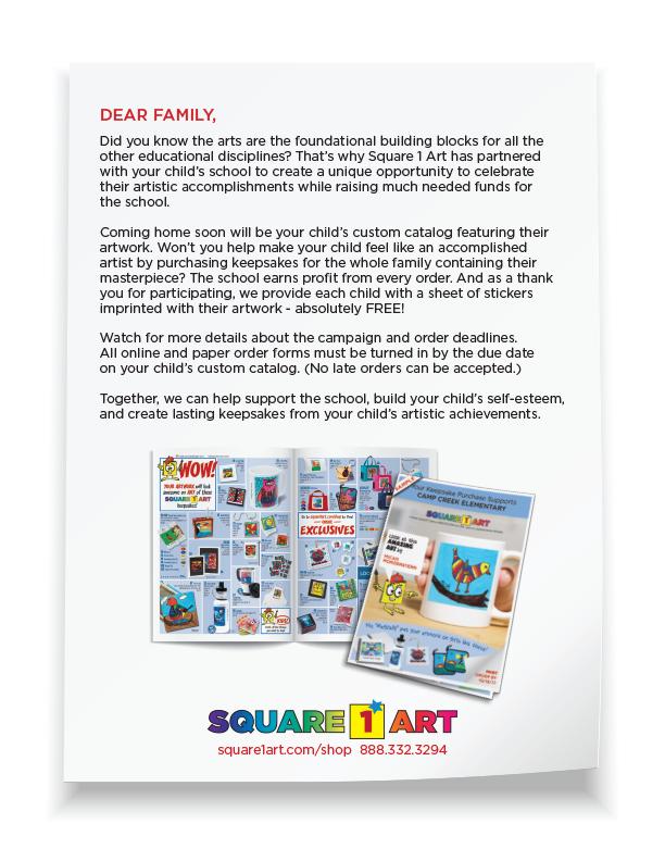 Square 1 Art - Letter to Parents